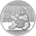 Panda proof stříbrná mince 300 Yuan 1 kg 2017