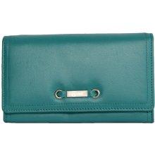tyrkysová velmi příjemná kvalitní kožená peněženka HMT