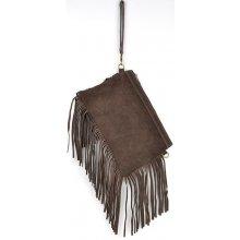 kabelka z pravé broušené kůže 81 Dark Brown