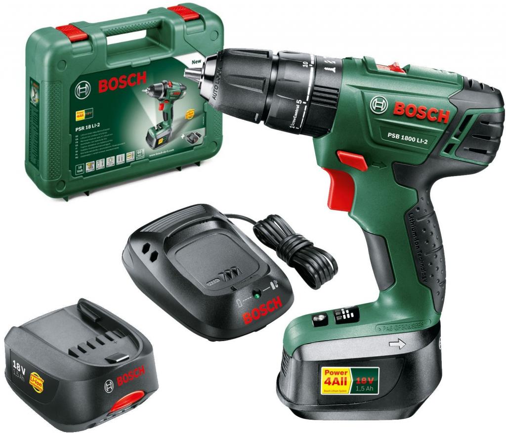 bc08ed740182a Bosch PSB 1800 LI-2 0 603 9A3 320 od 3 499 Kč - Heureka.cz