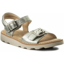 CLARKS - Crown Bloom 261310606 Silver Leather