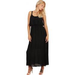 TopMode letní jednobarevná maxi šaty 59SY300 černá alternativy ... e7a1f1ba5f