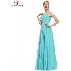 Grace Karin společenské šaty dlouhé CL6010-3 tyrkysově modrá ... 974f108179