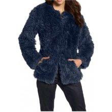 Laura Scott kožešinová bunda modrá