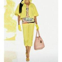 Apart 7/8 kalhotový bavlněný kostým žlutý