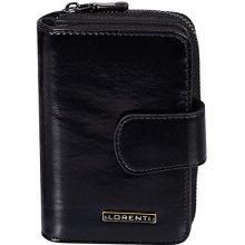 Lorenti Dámská kožená italská černá peněženka 76115 Black