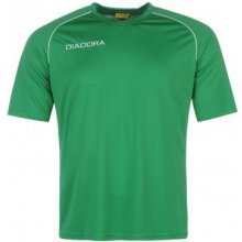 Diadora Madrid T Shirt Mens Green/White