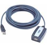 Aten UE250-AT Aktivní Prodlužovací USB 2.0 USB A Zástrčka - USB A Zásuvka, 5m, šedý
