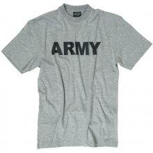 Army T Shirt Mens Grey