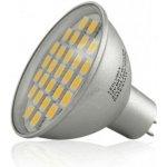 Ledin LED žárovka 5W 230V 27xSMD GU5.3/MR16 450lm studená bílá