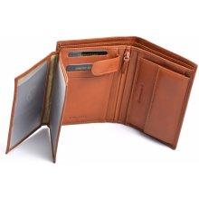 Valentini Pánská peněženka na výšku kožená dokladová hnědá, 9 x 2 x 13 (SV00-306475-13KUZ)