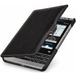 Pouzdro StilGut kožené Book Type s klipem BlackBerry Passport Silver Edition černé