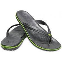 Crocs Žabky Crocband Flip Graphite/Volt Green 11033-0A1