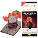Lindt Excellence hořká čokoláda Strawberry Intense, 100g