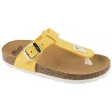 Scholl BOA VISTA KID dětské zdravotní pantofle žluté