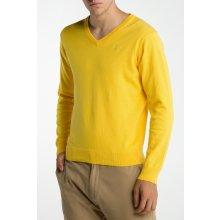 Gant Pánský svetr LT. WEIGHT COTTON V-NECK žlutá S