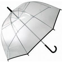Průhledný deštník černý pruh