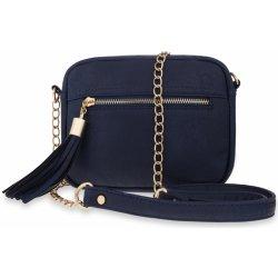 Specifikace dámská kabelka malá chanelka s řetízkem a třásněmi tmavě ... 764c65e4a1a