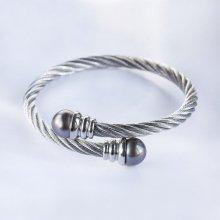 Náramek Klenota ocelový s tahitskou perlou sil2422