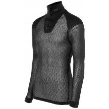 BRYNJE Super Thermo Zip polo Shirt w/inlaynavy