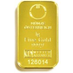 Münze Österreich Zlatý slitek 1 g