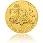 Česká mincovna 2018 Zlatá pětiuncová investiční mince Český lev stand 155,5 g