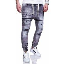 MyTrends Pánské džíny Jogg-Jeans Harlem RJ-2270 Šedá 18438