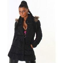 kabát černý černá