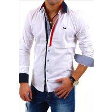 Carisma Košile pánská 8036 dlouhý rukáv Slim Fit Bílá e8f3598c5e