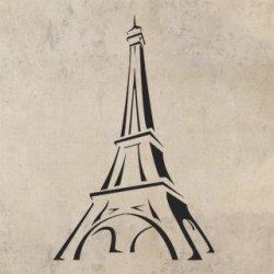Samolepka na zeď Eifelova věž 002 - 60x91 cm - VelkeSamolepky.cz