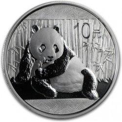 Panda Stříbrná mince 10 Yuan China 1 Oz 2015