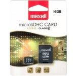 Maxell microSDHC 16GB CL10 + adaptér 854717