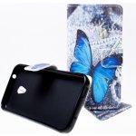 Pouzdro Wallet Design Alcatel U5 4047D Motýl