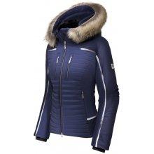 Descente dámská bunda Cecily s kožešinou temně modrá