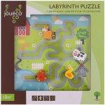 Johntoy Dřevěný labyrint puzzle Farma