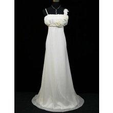 Bílé krémové ivory dlouhé svatební společenské šaty pro plnoštíhlé i těhotné