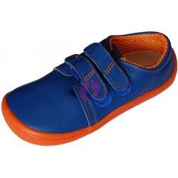 Dětská bota Beda barefoot Blue Mandarine kožené nízké e90bc5bfd6