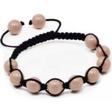 Náramek Shamballa s korálově růžové perly Swarovski Elements BMB10.08