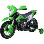Ramiz elektrická motorka Cross s nafukovacími koly zelená