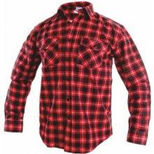 Tom flanelová košile červená