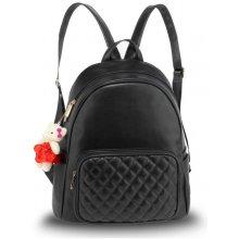 Anna Grace elegantní batoh s prošívanou kapsou černý 536862fb91