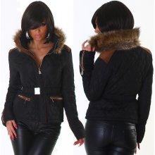 Jela London Zimní bunda s páskem černá