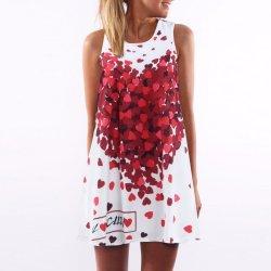Úžasné volné letní šaty se srdíčky s krátkým rukávem 52c387c63f