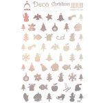 Arch Holografické dekorační samolepky vánoční různé motivy multicolor 830