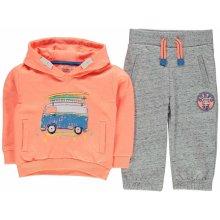 Crafted 2 Piece Tracksuit Childrens Neon Orange Van
