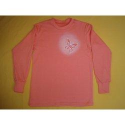 Pletex Tričko s obrázkem dlouhý rukáv 2 lososová Motiv motýl od 199 ... 6b1ff4f242