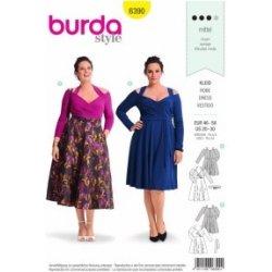 Střih Burda 6390 na šaty pro plnoštíhlé a8ee8fd5dc