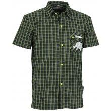 Altisport Noves pánská sportovní košile ALMS14054 Černozelená