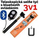 Neven Monopod - teleskopický držiak na selfie + Bluetooth spúšť fotoaparátu Z07-1 černá
