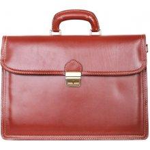 italské luxusní pánské kožené tašky na rameno Simeon koniak bca7f40567a